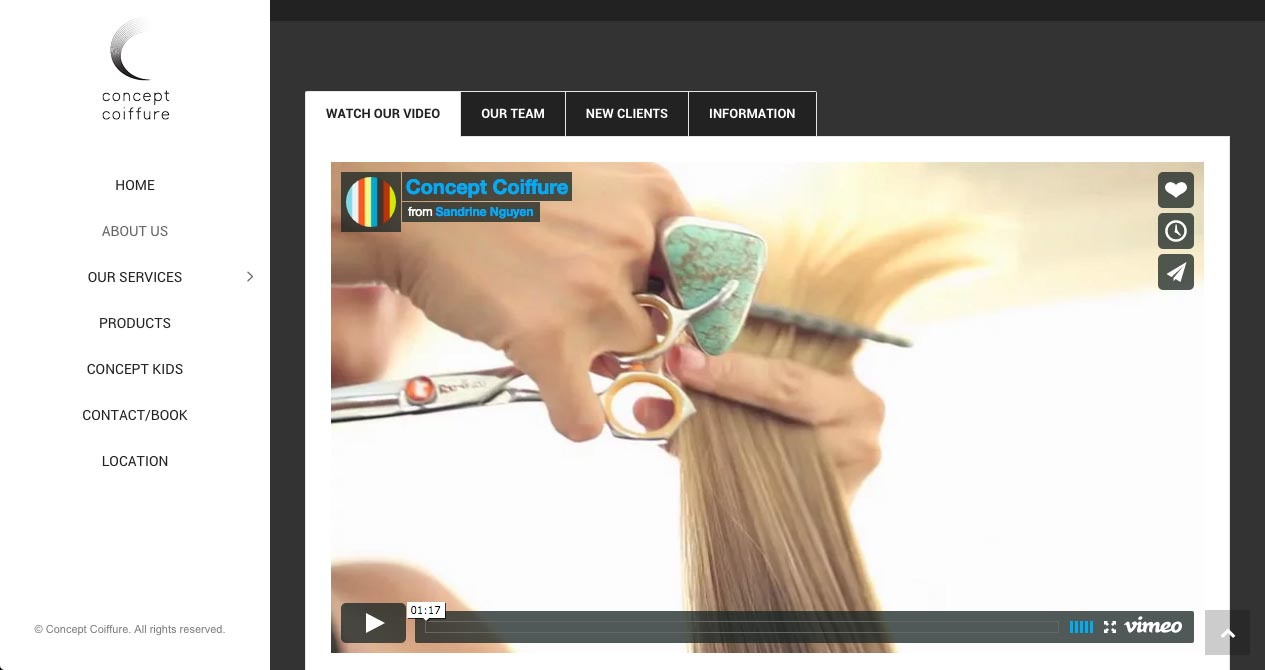 concept coiffure about us web page