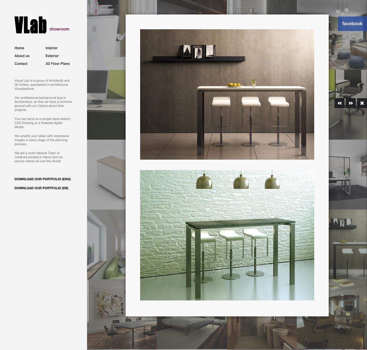 V Lab Co web design desktop