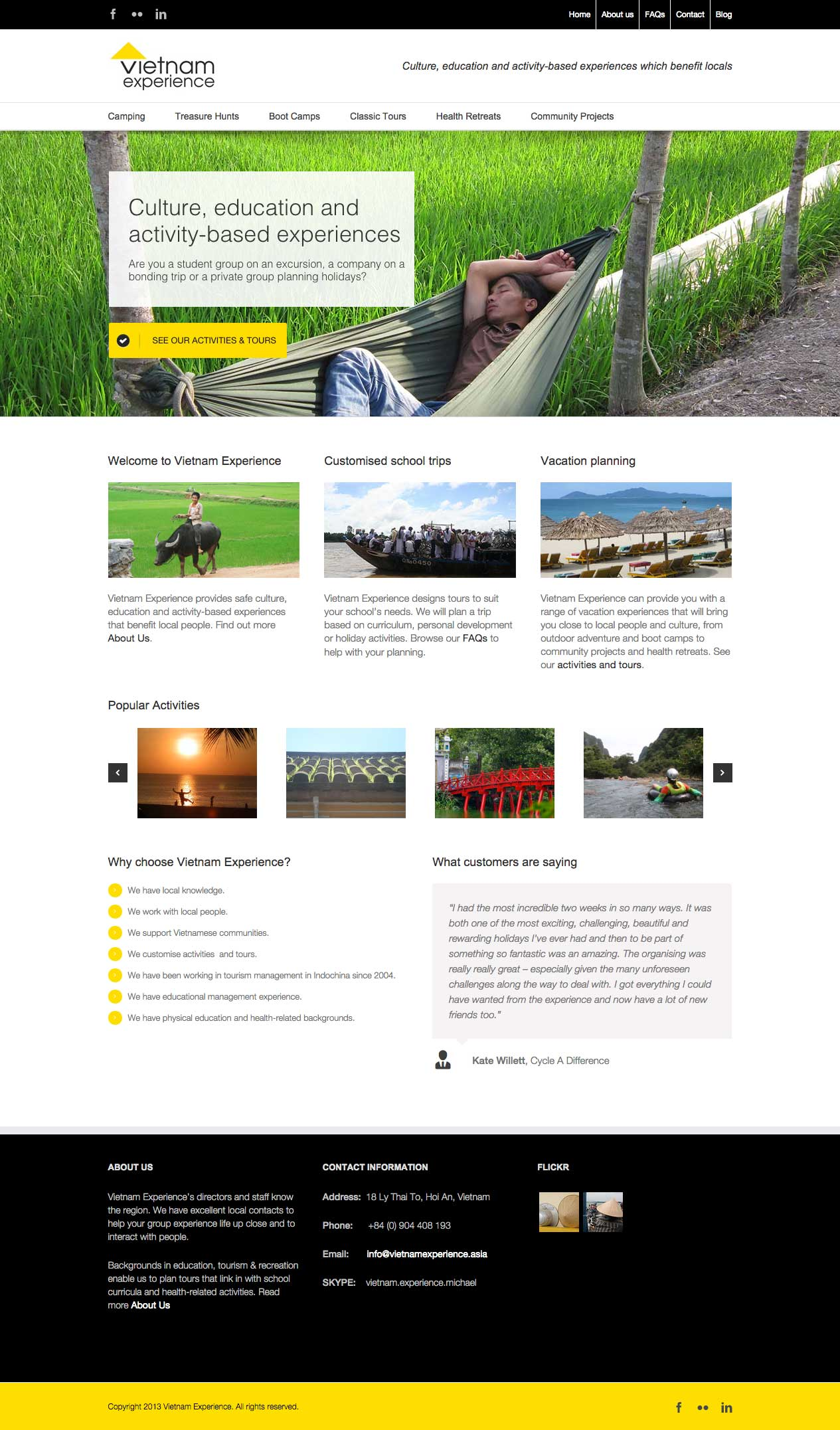 Vietnam Experience website