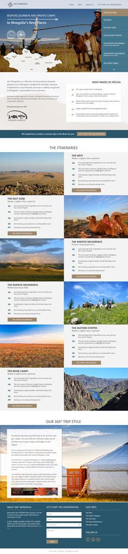 360° mongolia website full homepage