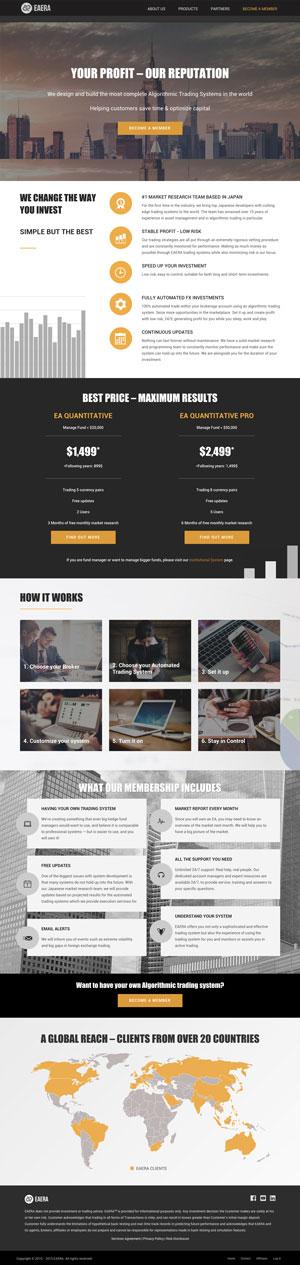 EAERA web design homepage